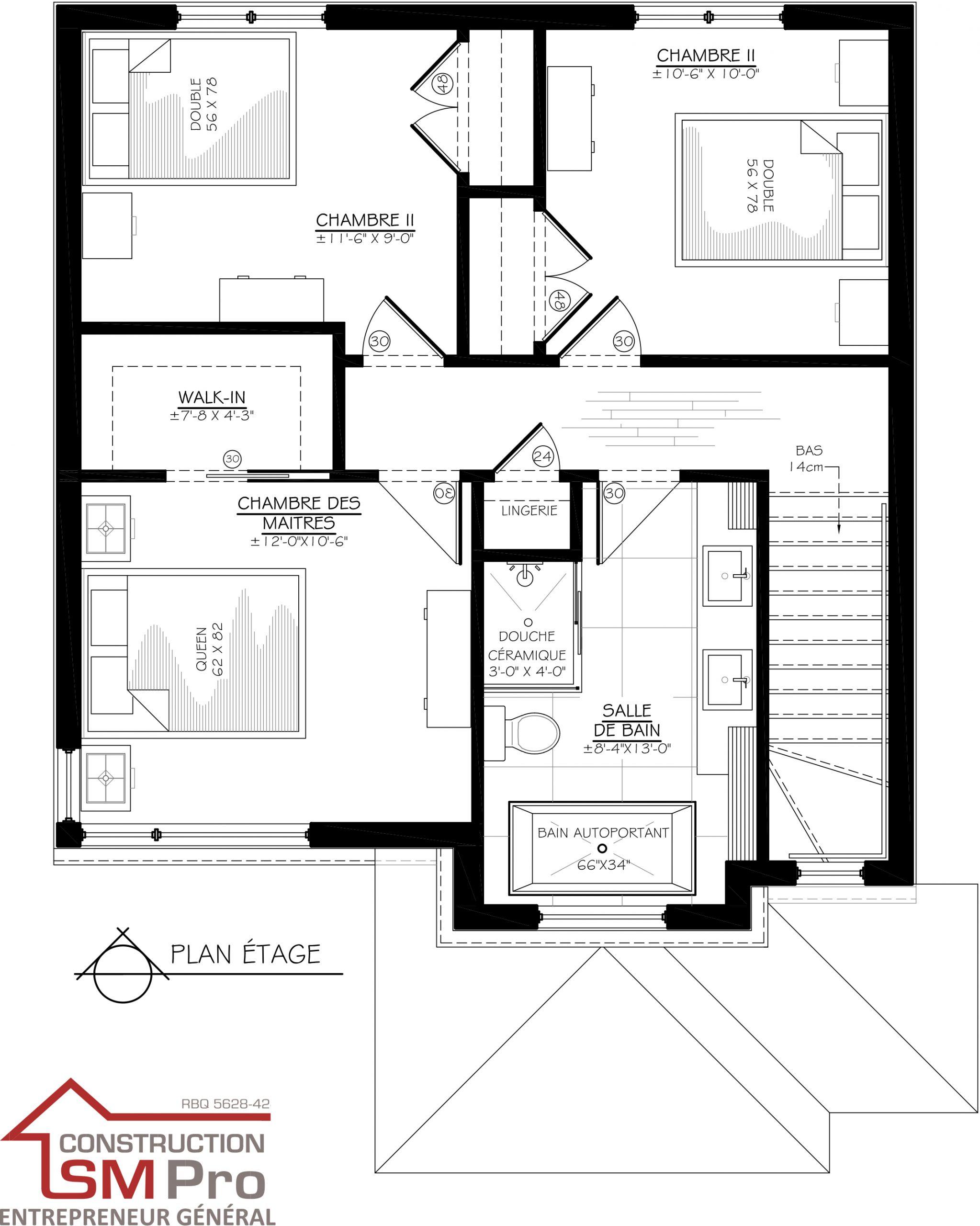 Construction SM Pro image modele ARIA PLAN de l'etage