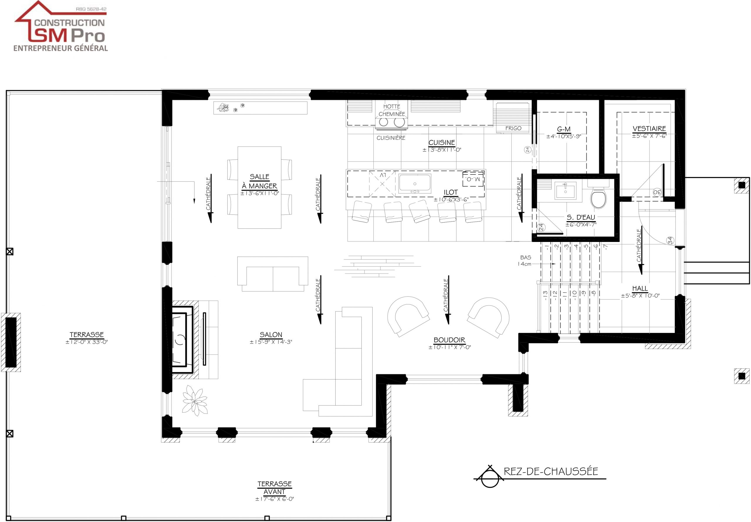 Construction SM Pro image modele OASIS plan du rez de chausse