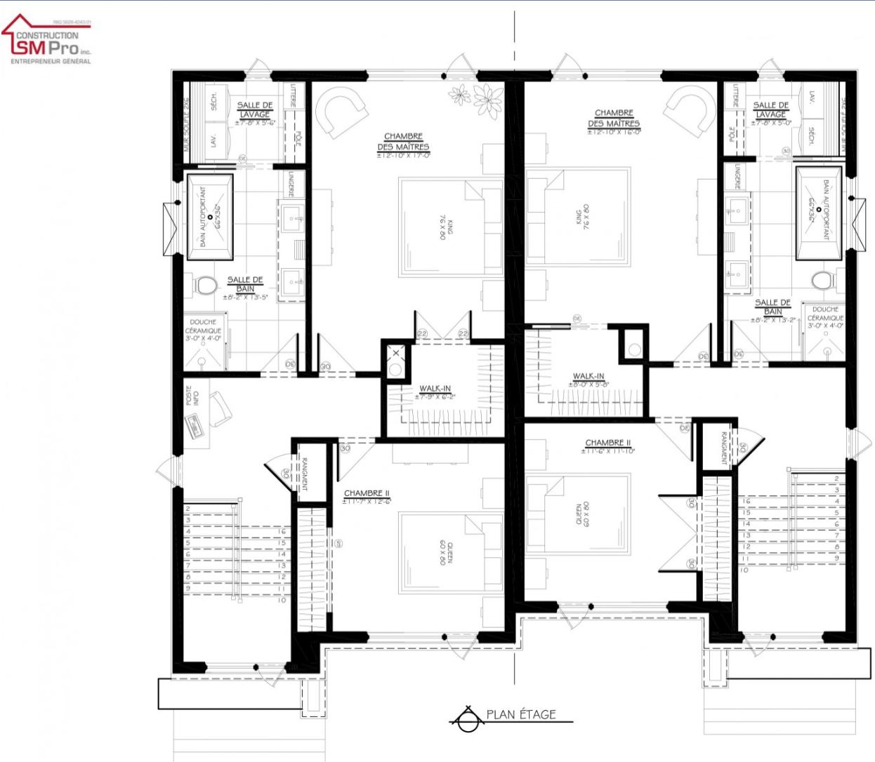 Construction SM Pro image modele SOFIA PLAN de l'etage